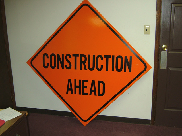 danger construction signs